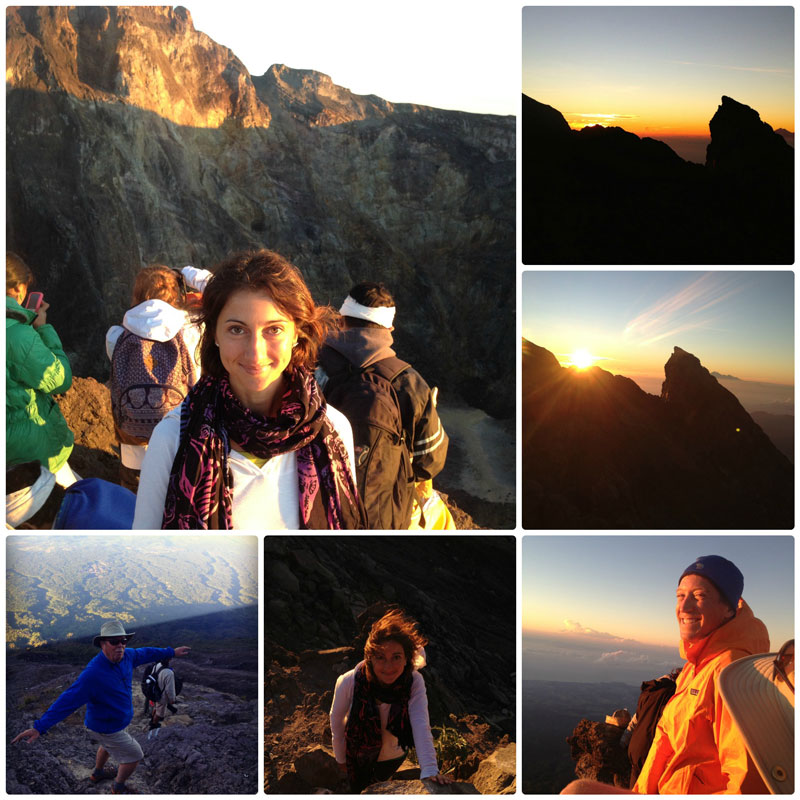 Рассвет на вулкане Агунг