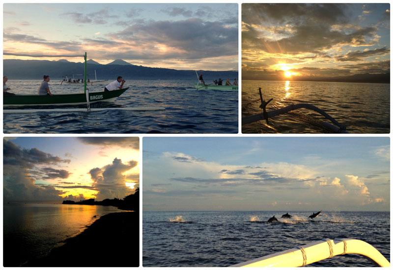 Ловина, остров Бали, дельфины, рассвет