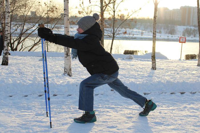 Скандинавская ходьба разминка