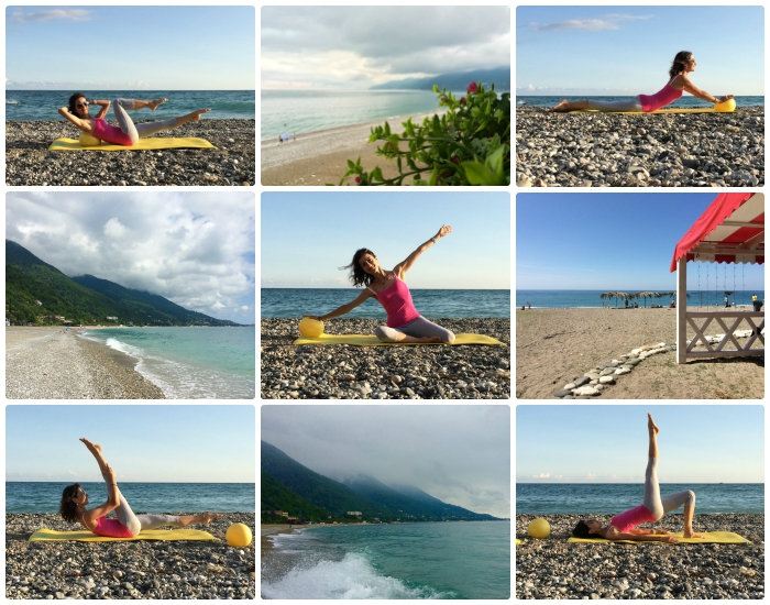 Пилатес у моря, Pilates by the sea
