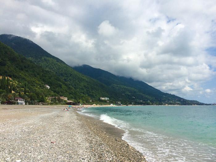 Пляж, Старая Гагра