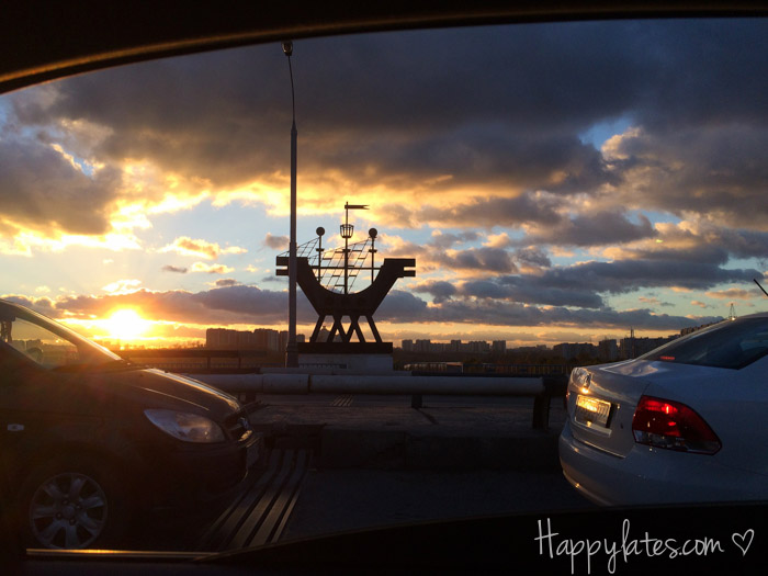 Закат, Братееевский мост